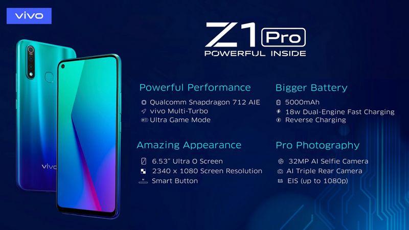 Spesifikasi Smartphone Vivo Z1 Pro
